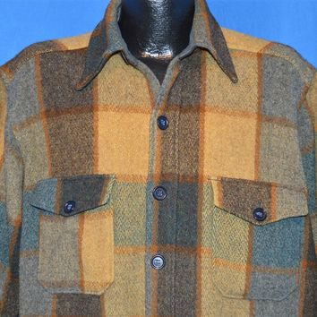 70s Woolrich Plaid Hunting Wool Jacket Extra Large