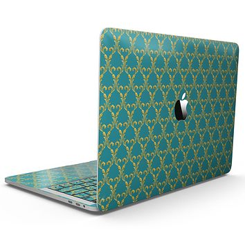 Mint Summer Gold v1 - MacBook Pro with Touch Bar Skin Kit