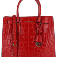 Michael Kors Dillon Large NS Embossed Leather Tote Bag Purse
