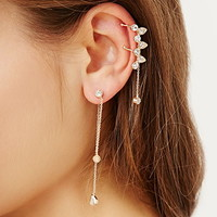 Rhinestone Ear Cuff Set