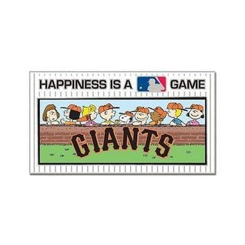 SAN FRANCISCO GIANTS PEANUTS GANG HAPPINESS IS A GAME COLLECTOR PIN NEW WINCRAFT
