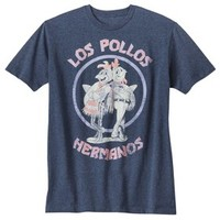 Men's Breaking Bad Los Pollos Graphic Tee - Heathered Navy