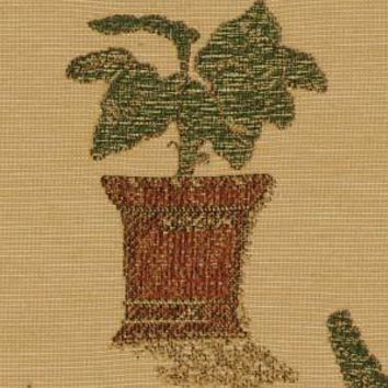 Robert Allen Fabric 062331 Patio Plants Russet