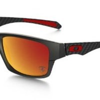 Oakley Men's Ferrari Polarized Jupiter Carbon Sunglasses - Matte Carbon/Ruby Iridium Polarized