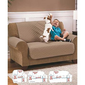 Ultimate Sofa, Loveseat, or Chair Quilted Waterproof Furniture Protector Pet Cover