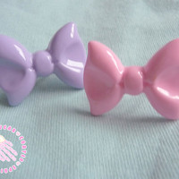 Pink or Lilac bow ring