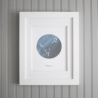 Constellation Pisces Wall Art, Star Sign Print, Astronomy Pisces Print, Pisces Star Poster, Star Sign Zodiac Print, Pisces Constellation
