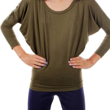 Olive Piko Top- Kids  *MADE IN USA*