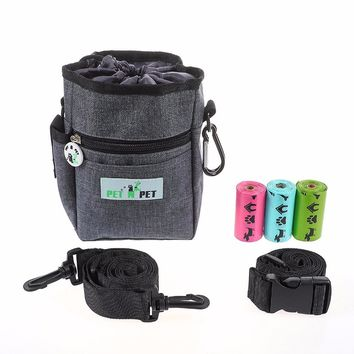 PET N PET Dog Training Pouch-Dog Treat Pouch With Built-In Poop Bag Dispenser