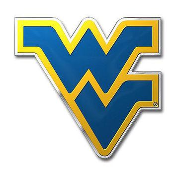 West Virginia Mountaineers 3D COLOR Chrome Auto Emblem Home Decal University of
