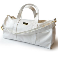 Mint Anaconda 56cm Duffle Bag * White *