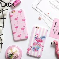 "LACK Fashion Cartoon Flower Stripe Dot Colorful Flamingo Case Cover For iPhone 6 6S Plus 4.7/5.5"" Soft IMD Phone Cases & bags"