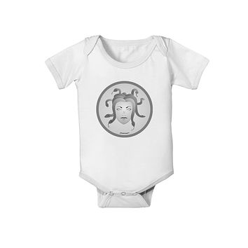 Medusa Head Coin - Greek Mythology Baby Romper Bodysuit by TooLoud