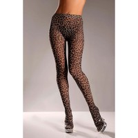 Be Wicked BW615 Nylon leopard tights