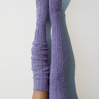 Orchid Marled Cable Knit Thigh High Socks, OTK Thigh Highs, Stockings, PM-088O