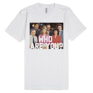 Cheers, Who are you?-Unisex White T-Shirt