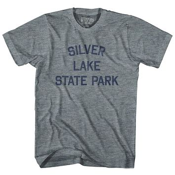 Vermont Silver Lake State Park Adult Tri-Blend Vintage T-shirt