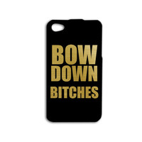 Beyonce iPhone Case Cute BOW DOWN Phone Case Quote iPod Case iPhone 4 Cover iPhone 5 Case iPhone 5s Case iPhone 4s iPod 4 Case iPod 5 Case