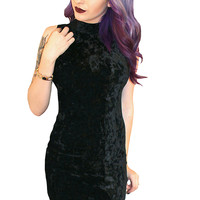 "Women's ""Le Vamptress"" Velvet Dress by Demi Loon (Black)"