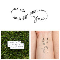 Infinity - Perks of Being a Wallflower Quote - Temporary Tattoo (Set of 2)