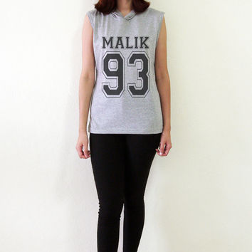 Zayns Malik Shirt TShirt Malik 93 One Direction Sleeveless Hoodies Women T-Shirt Tank Top Hipster Size S M L