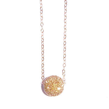 Rose Gold Filled Stardust Ball Necklace