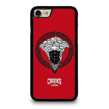 CROOK AND CASTLES BANDANA RED iPhone 4/4S 5/5S/SE 5C 6/6S 7 8 Plus X Case