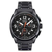 ESQ Movado Excel Chronograph - Black Dial - Black IP Case and Bracelet