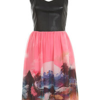 DESIGNED BY Leather Bodice Dress - View All - Going Out - Miss Selfridge