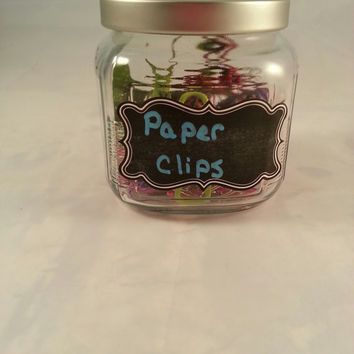 Square Glass Jars with chalk label, ideal for storage in every room of the house