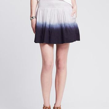Banana Republic Womens Dip Dye Smocked Skirt