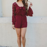 Lady In Red Romper
