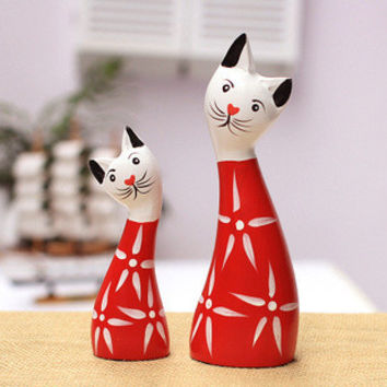 Animal Cats Wooden Home Decor [6282305734]