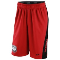 Georgia Bulldogs Nike 2014 Football Sideline Fly XL 2.0 Shorts - Red