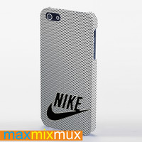 Nike Logo On Steel Mesh Titanium 2 iPhone 4/4S, 5/5S, 5C Series Full Wrap Case