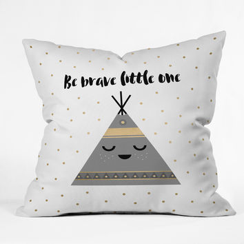 Elisabeth Fredriksson Be Brave Little One Throw Pillow