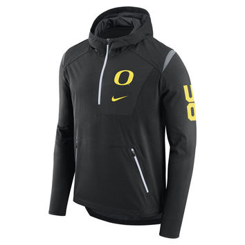Oregon Ducks Nike NCAA Men's Alpha Fly Rush Quarter Zip Pullover | lids.com