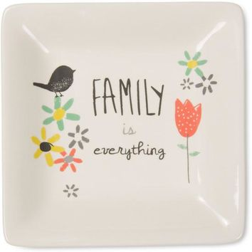 Family is everything Ceramic Keepsake Dish