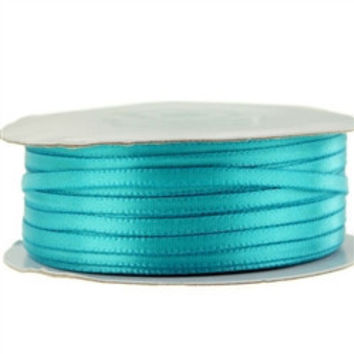 Double Face Satin Ribbon, 1/8-inch, 100-yard, Turquoise