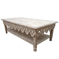 Distressed Fleur de Lis Coffee Table