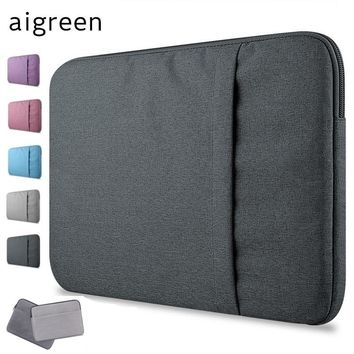 "New Brand aigreen Sleeve Case For Laptop 11"",13"",14"",15,15.6 inch,Bag For Macbook Air Pro 13.3"",15.4"",Free Drop"