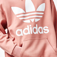 adidas Fashion Pink Oversized Pullover Hoodie at PacSun.com