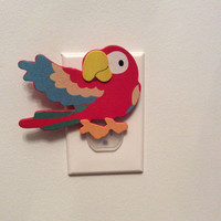 Parrot Outlet Cover, Parrot Outlet Plug,  Safari Nursey  Decor