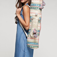 Tapestry Print Boho Yoga Mat Tote Bag with Water Pouch
