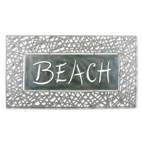 ''Beach'' Rattan Wall Decor