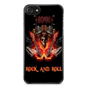 ACDC Rock N Roll Poster iPhone 7 Case