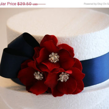 Navy and Red Wedding Decorations,Wedding Cake Decorations,Navy Wedding Accessory, Cake Decoration, Navy Party Decoration,Navy wedding idea