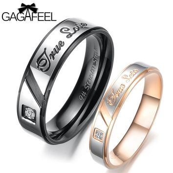 Lover Alphabet Ture Love Accessory With Sparking Zircon Black Rose Gold Color
