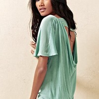 Open-back Cowlneck Tee