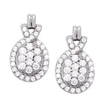 2 ct tw Diamond Cluster Earrings with F Color VS1 VS2 Clarity Diamonds
